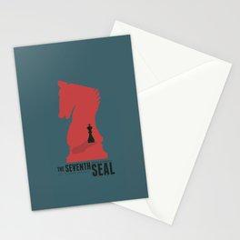 The Seventh Seal, Ingmar Bergman movie poster, swedish film, Max von Sydow Stationery Cards