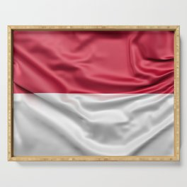 Flag of Indonesia Serving Tray