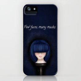 Few faces, many masks. iPhone Case