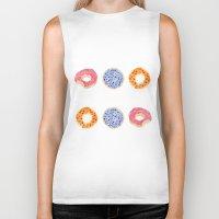 doughnut Biker Tanks featuring doughnut selection by cardboardcities