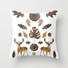 WOODS COLLAGE Throw Pillow