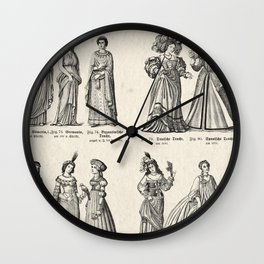 Women's Fashions through the Ages v.1 Wall Clock