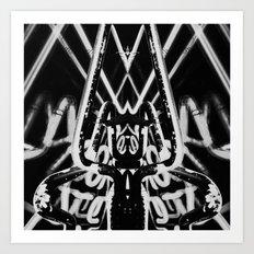 Neon Tarantula Art Print