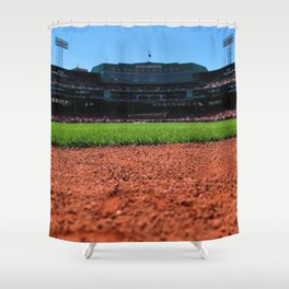 From Centerfield - Boston Fenway Park, Red Sox Shower Curtain