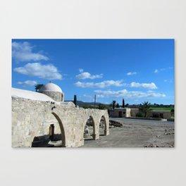 Clouds Church Cyprus Canvas Print