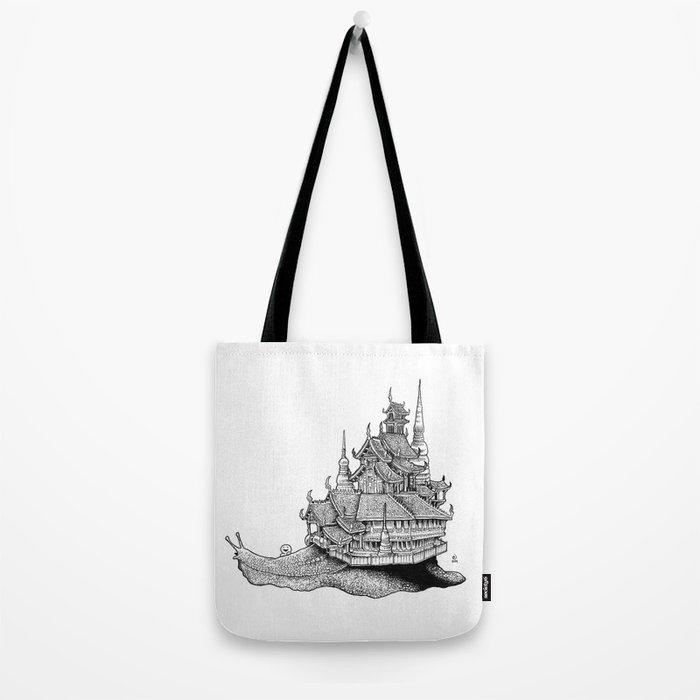 Snail Temple Tote Bag