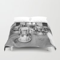 drums Duvet Covers featuring Traditional Jaangu_Korean Drums by Jennifer Stinson