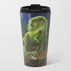 T-Rex Mother and Young Metal Travel Mug
