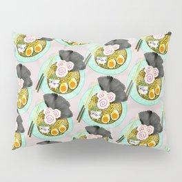 Ramen Cats Pattern Pillow Sham