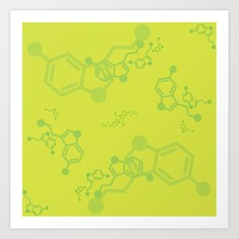 serotonin leaves Art Print