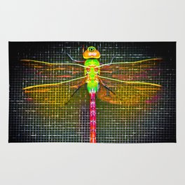 Neon Dragonfly Rug