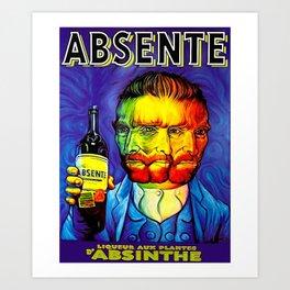 Absente (Absinthe) Van Gogh Parody Vintage Poster, tshirts, tees, jersey, posters, tshirts, Prints, Art Print