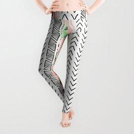 Pattern flowers and cactus Leggings