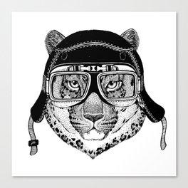 Leopard Speed Rebel Canvas Print