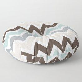 Seaside Chevron Floor Pillow