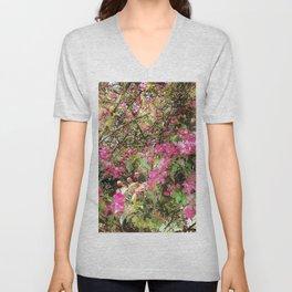 Springtime, purple blossoms Unisex V-Neck