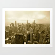 Chicago - View from John Hancock Art Print
