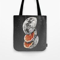 fruit Tote Bags featuring Lunar Fruit by J.P Ormiston