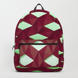 Trapez 4/5 Red and green by Brian Vegas Backpack