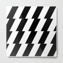 flash black and white Metal Print