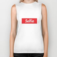 supreme Biker Tanks featuring Selfie Supreme by Directapparelco