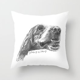 A friendly reminder that sharing is caring Throw Pillow
