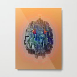 Buble Lab Robotics Space Metal Print