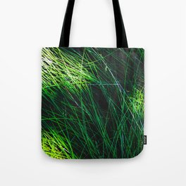 green grass field texture abstract background Tote Bag