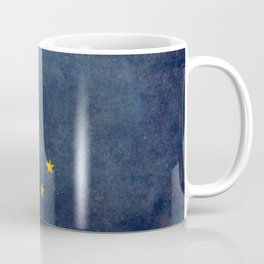 Alaskan State Flag, Distressed worn style Coffee Mug