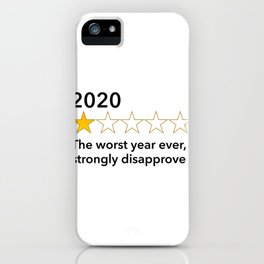 Sarcastic 2020 Review - Worst Year Ever Rating - 1 Star print iPhone Case