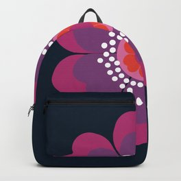 Stellar - minimal 70s style abstract floral flower art retro throwback 1970's vintage vibes Backpack