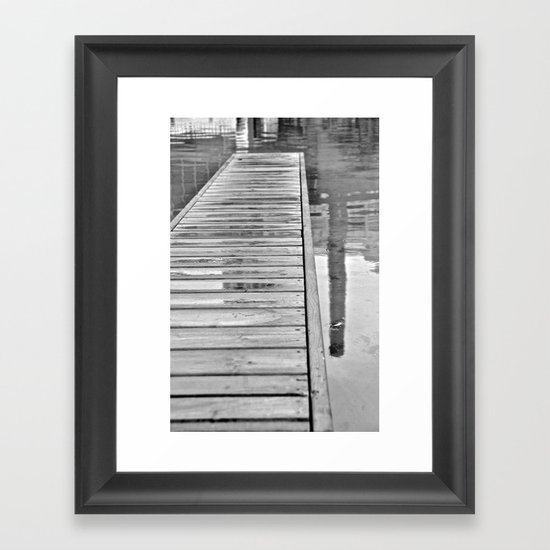 Down On The Dock Framed Art Print