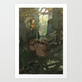 Casey in the Warehouse Art Print