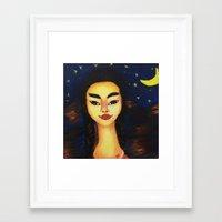 frida kahlo Framed Art Prints featuring Frida Kahlo by ArtSchool