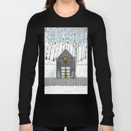 Christmas Cabin In The Snowy Woods Long Sleeve T-shirt
