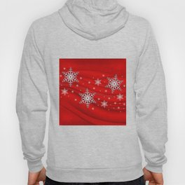 Abstract background with snowflakes Hoody
