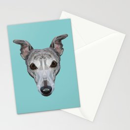 Whippet // Blue Stationery Cards