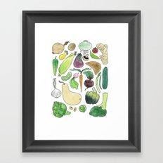 Veg! Framed Art Print