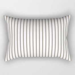 Mulch Brown Pinstripe on White Rectangular Pillow