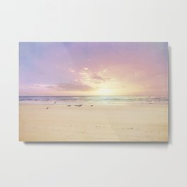 the beach is my happy place Metal Print