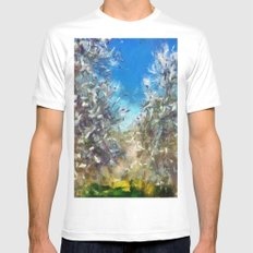 Spring Blossom Mens Fitted Tee White MEDIUM