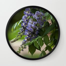 Purple Wisteria Wall Clock