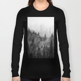 The Visionary Echo BW #society6 Long Sleeve T-shirt