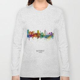 Bucharest Romania Skyline Long Sleeve T-shirt