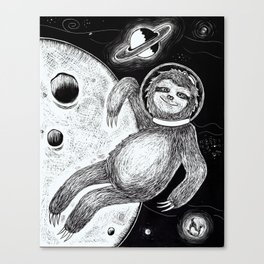 Sloth in Space Canvas Print