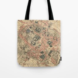 Vintage Map of Lugo Spain (1915) Tote Bag