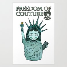 Liberty Matryoshka Art Print