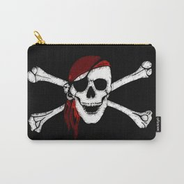 Creepy Pirate Skull and Crossbones Carry-All Pouch
