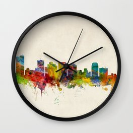 Phoenix Arizona Skyline Cityscape Wall Clock