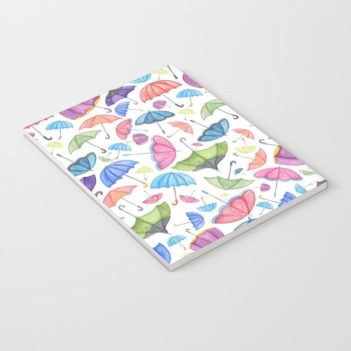 Umbrella Print.  Notebook
